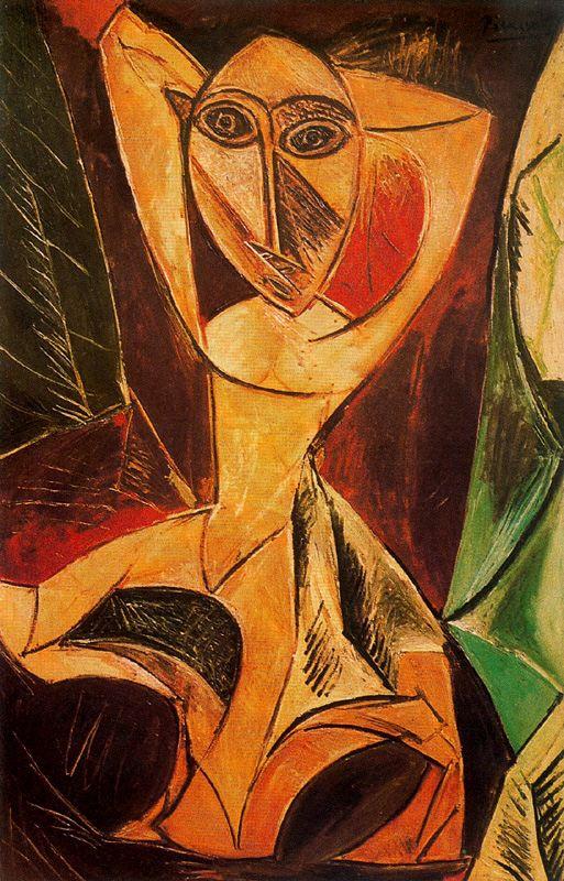 Пабло Пикассо. Обнаженная с поднятыми руками. Авиньонская танцовщица