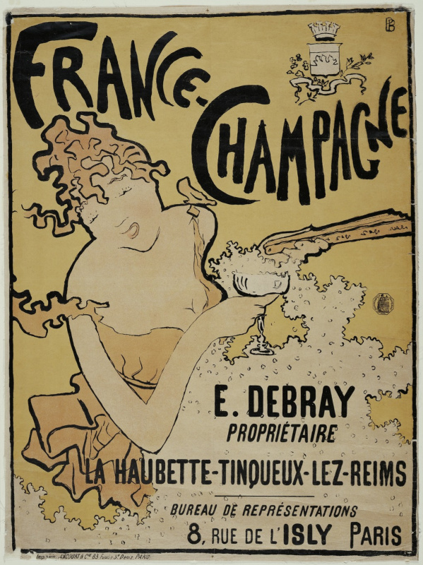 "Pierre Bonnard. The advertising of the brand ""France-champagne"""