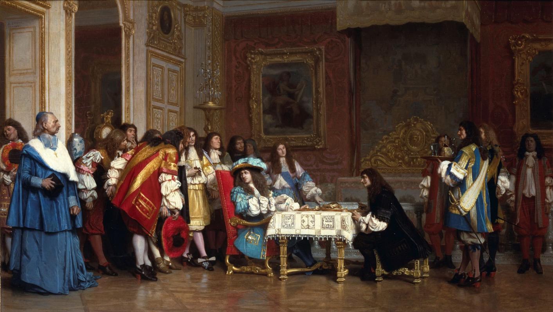 Жан-Леон Жером. Людовик XIV и Мольер