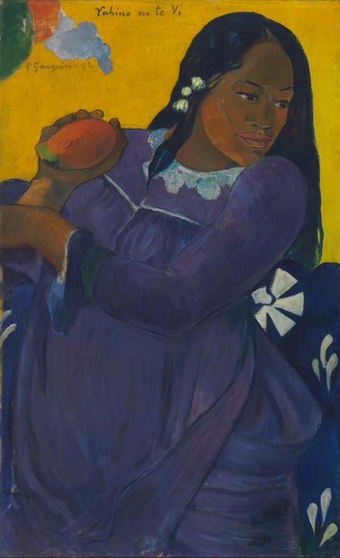 Paul Gauguin. Woman with mango