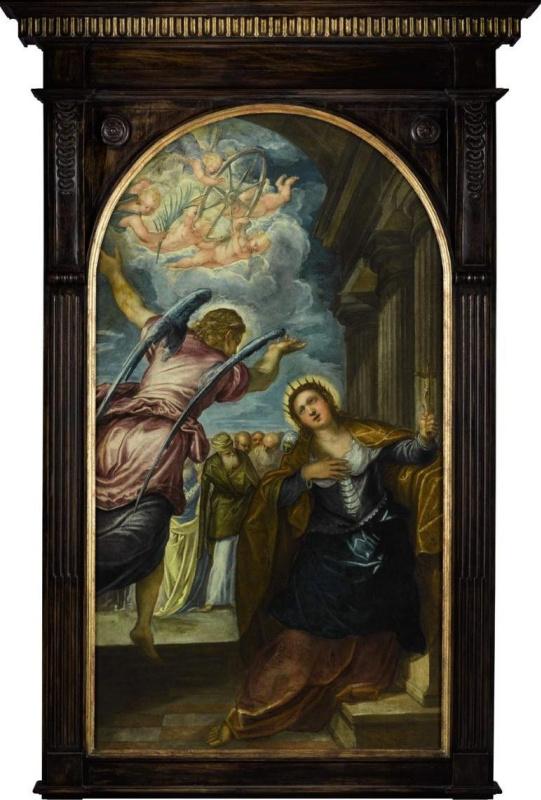 Якопо (Робусти) Тинторетто. Ангел предсказывает святой Екатерине Александрийской её мученичество