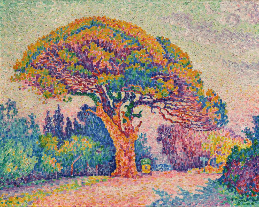 époustouflant The Pine Tree at Saint-Tropez by Paul Signac: History, Analysis #AX_83