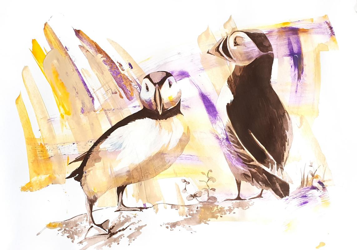 Anya Alexandrovna Yashchuk. Northern birds