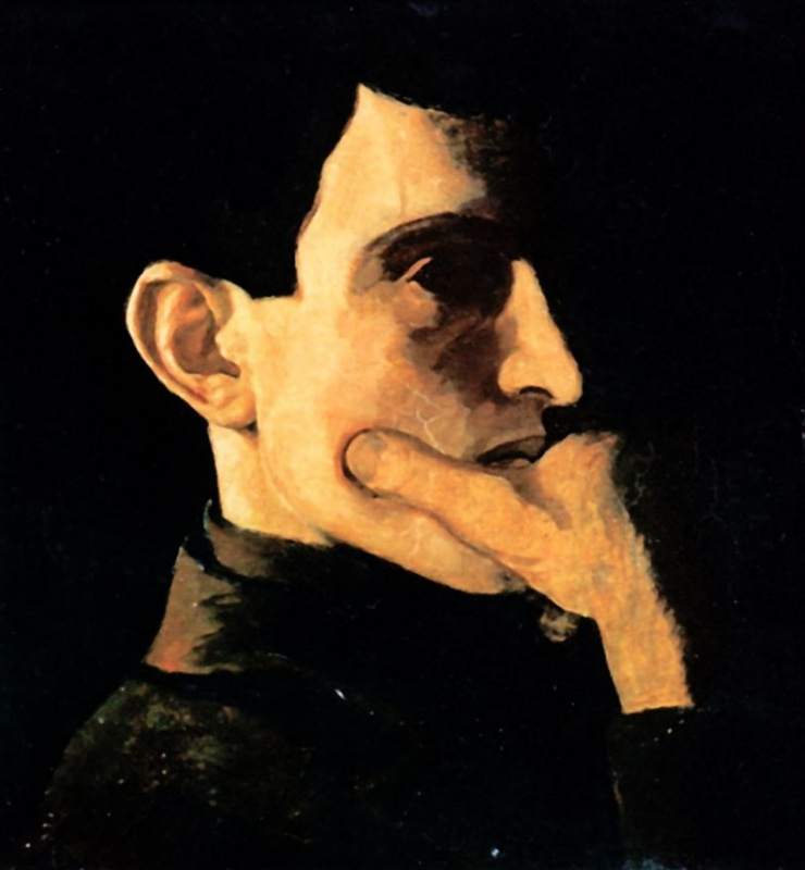 Nikolay Petrovich Krymov. Self-portrait