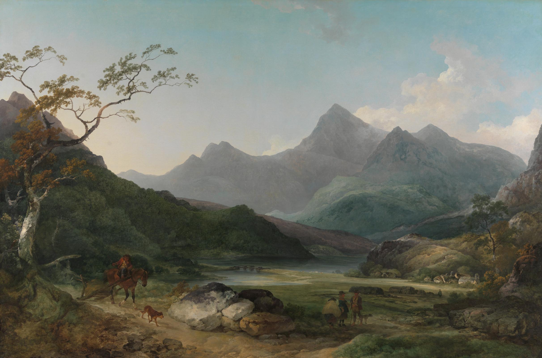 Филипп Якоб Лютербург. Вид на гору Сноудон с Кейпел Кериг