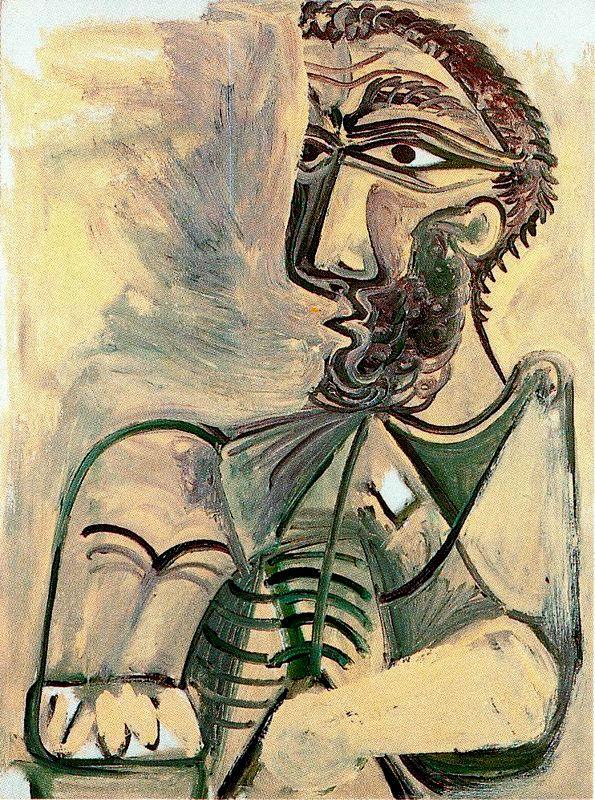 Пабло Пикассо. Бюст пишущего мужчины