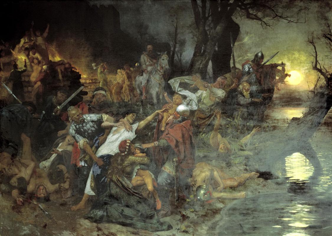 Генрих Ипполитович Семирадский. Тризна дружинников Святослава после боя под Доростолом