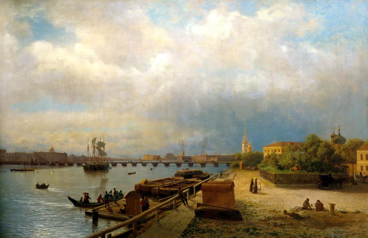 Лев Феликсович Лагорио. Вид на Неву и Петропавловскую крепость