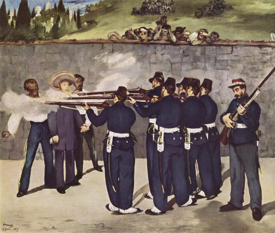 Edouard Manet. The execution of Emperor Maximilian I