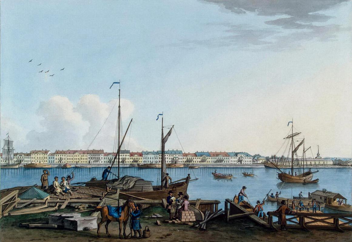 Бенжамен Патерсен. Вид Английской набережной и Галерного двора