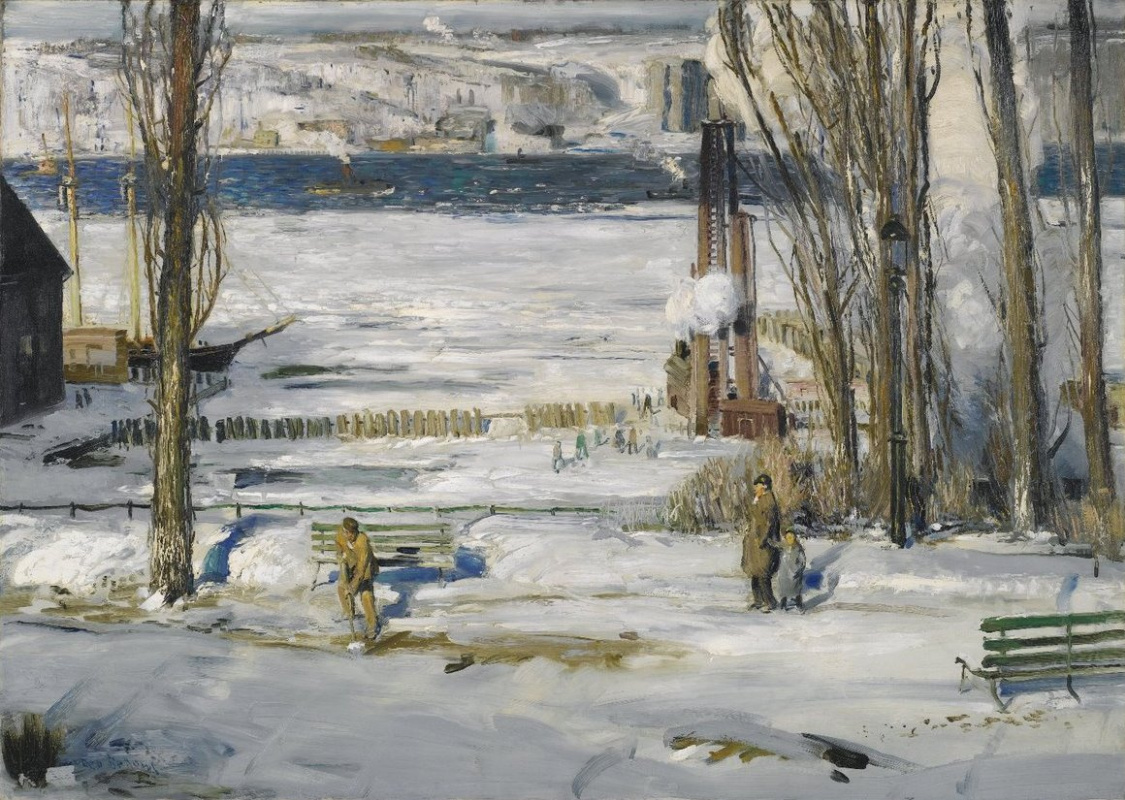 George Wesley Bellows. A morning snow Hudson river
