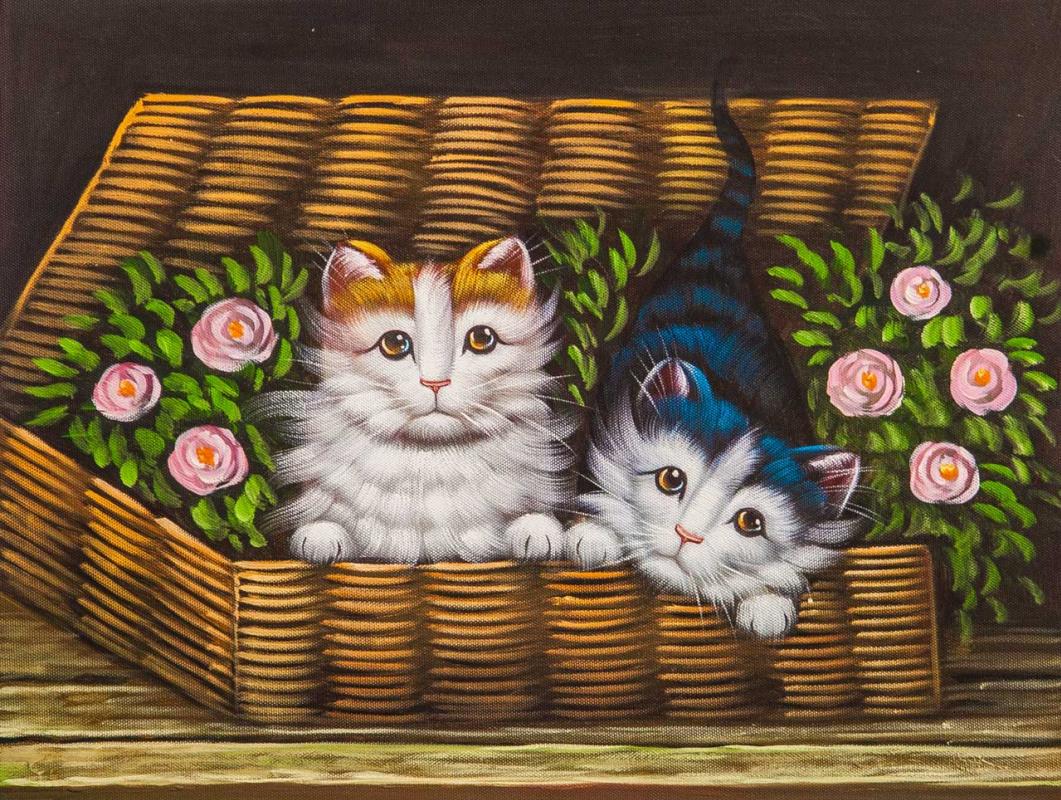 Maria Potapova. Котята в корзине N2