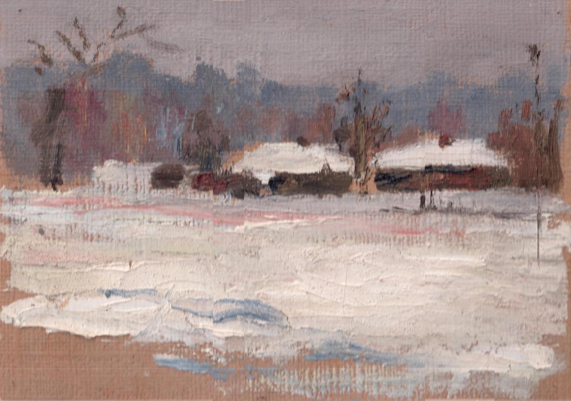 Arkady Pavlovich Laptev. The winter village