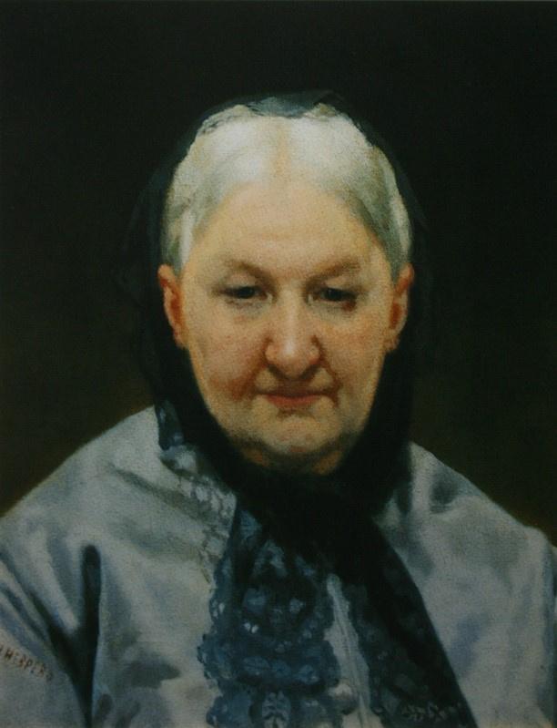 Nikolai Vasilyevich Nevrev. Portrait of A.P. Elagina. 1870s