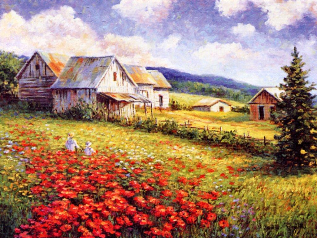 Моник Госслин. Цветочная песня