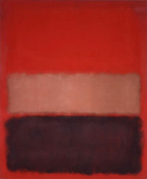Марк Ротко. № 46 (Черный, охра, красный на красном)