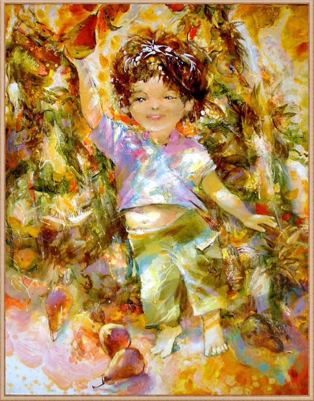 Evgeny Anatoleviz Babushkin. A boy with a pear