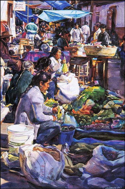 Джеральд Фризтлер. Утро на рынке