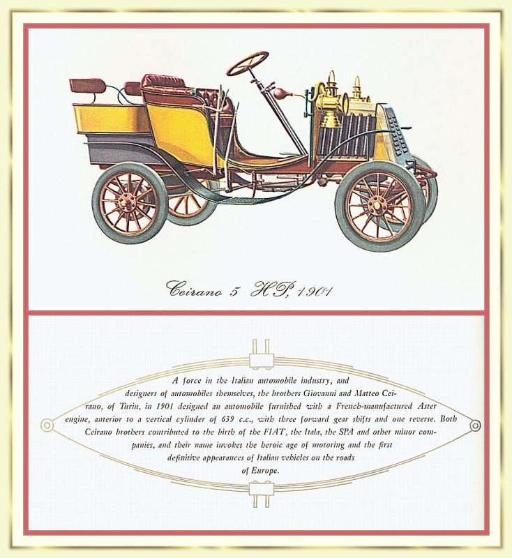 Лионель Моррис. Серия ретро-автомобили. 1901 Цейрано