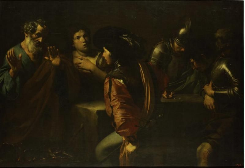 Валантен де Булонь. Отречение святого Петра