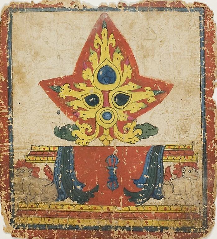 Unknown artist. Lotus lion throne