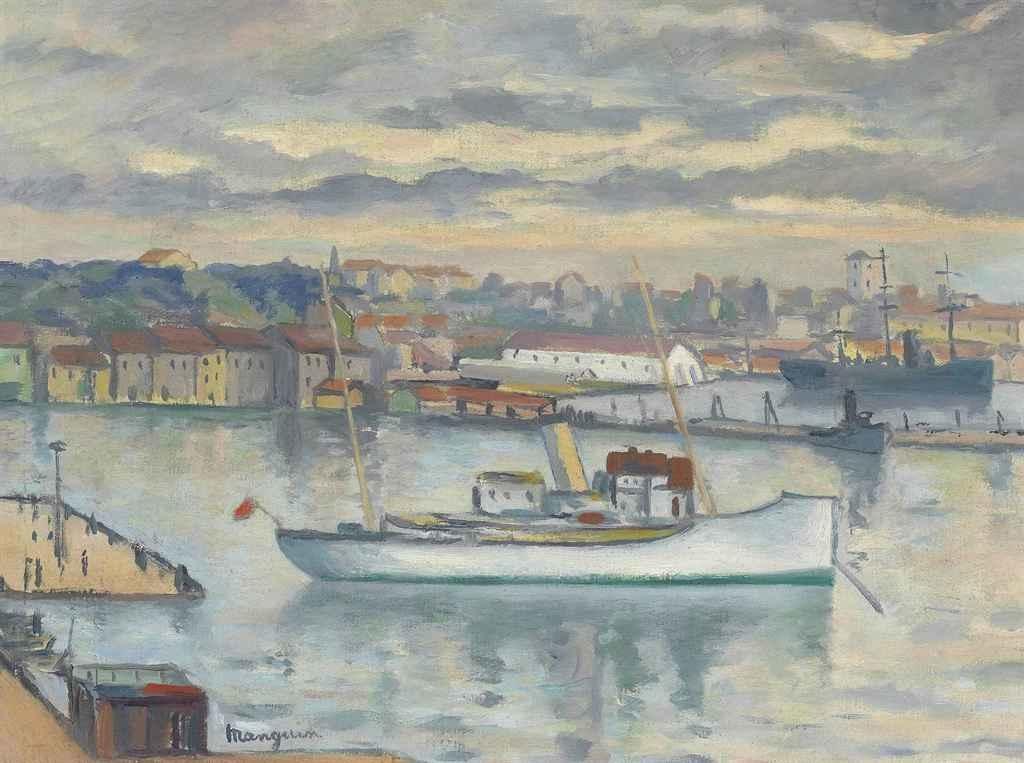 Henri Manguin. The mail boat, Toulon
