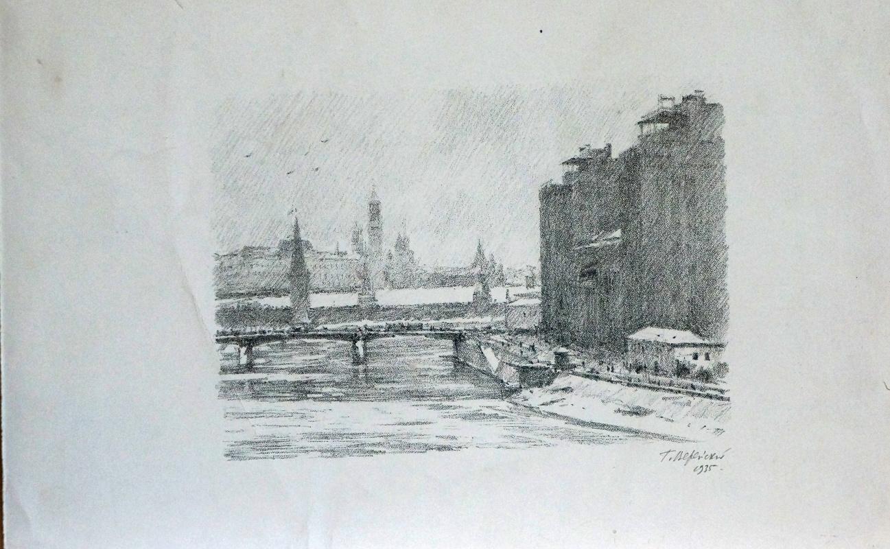 Georgiy Semenovich Vereisky. View of the Kremlin and Moskvoretsky Bridge