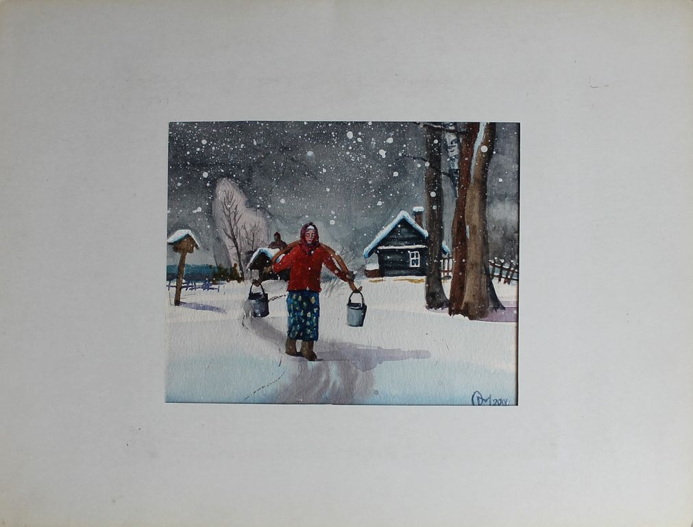Oleg Yurievich Mikhailov. Winter in the village