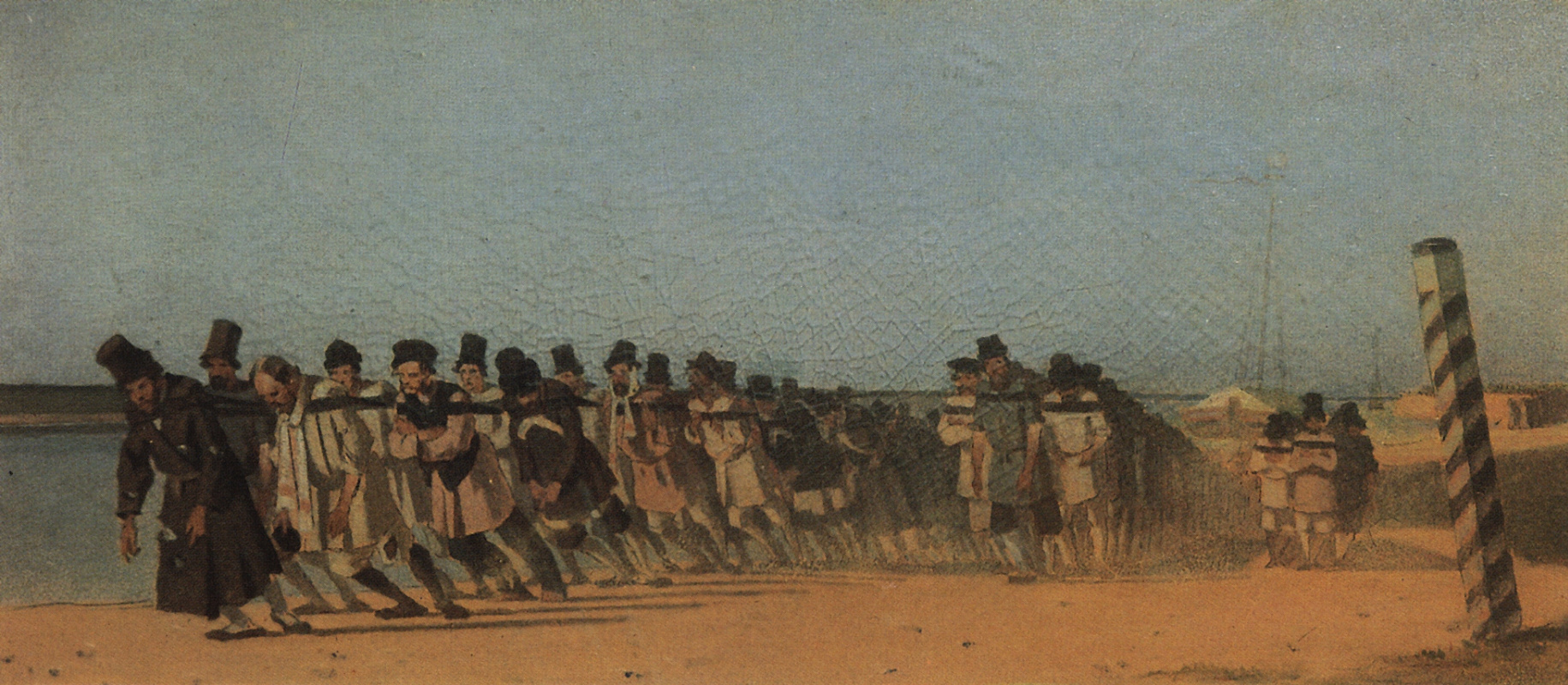 Vasily Vereshchagin. The haulers. Unrealized sketch for the painting