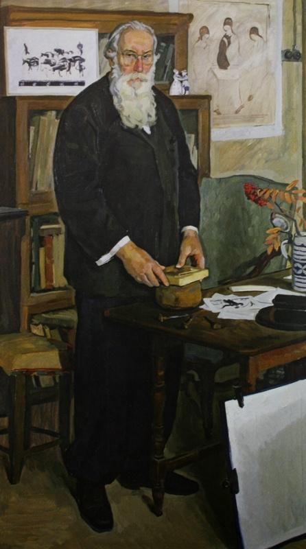 """Дмитрий Дмитриевич Жилинский. """"Портрет художника В.А.Фаворского"""" 1962"""