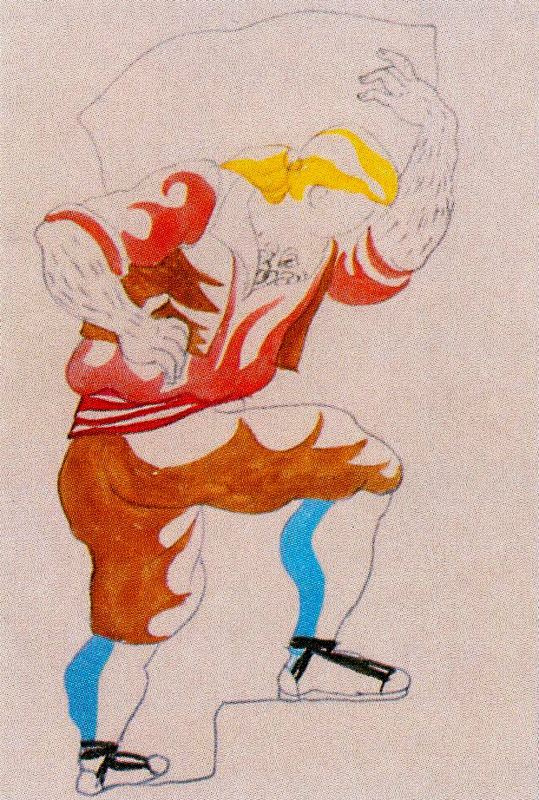 """Пабло Пикассо. Эскиз костюма к балету """"Треуголка"""""""