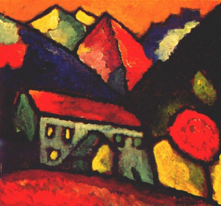 Alexey Georgievich Yavlensky. House on the hill