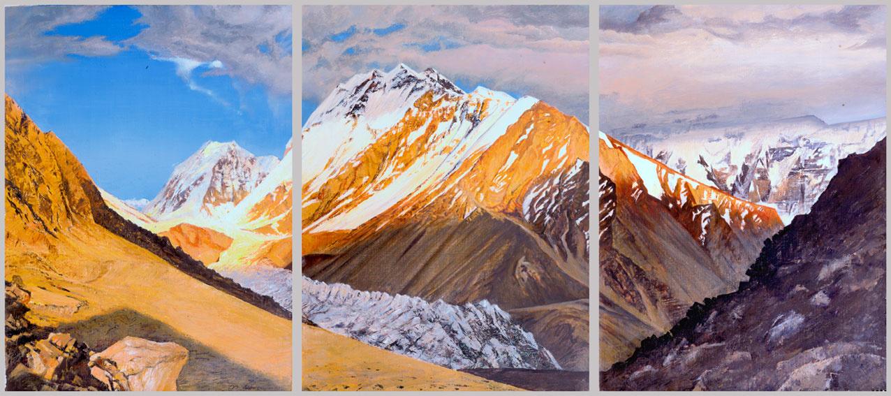 Valery Ivanovich Grachev. Vorobiova peak, triptych