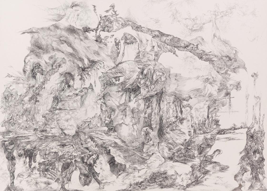 Бернард Шульце. Останки леса и столбы