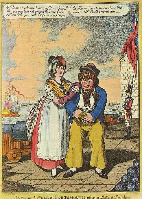 Джек и Полли в Портсмуте после битвы при Трафальгаре