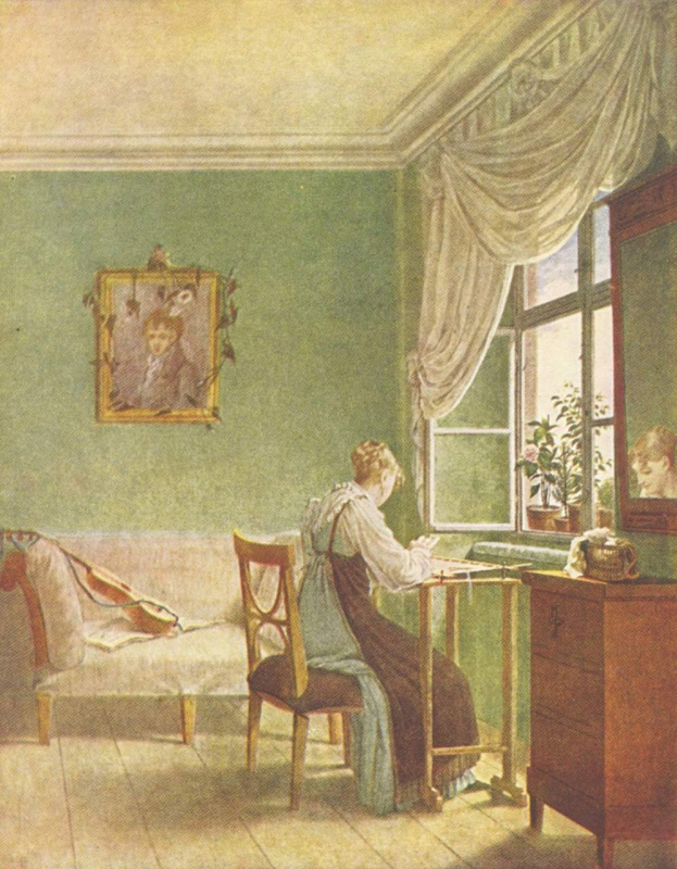 Георг Фридрих Керстинг. Вышивальщица у окна
