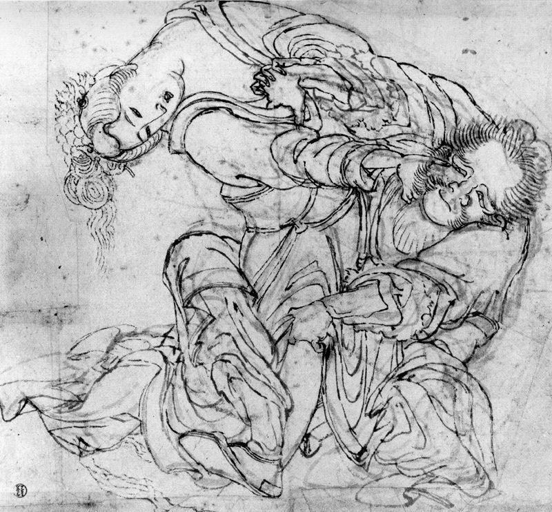 Кацусика Хокусай. Сцена драки