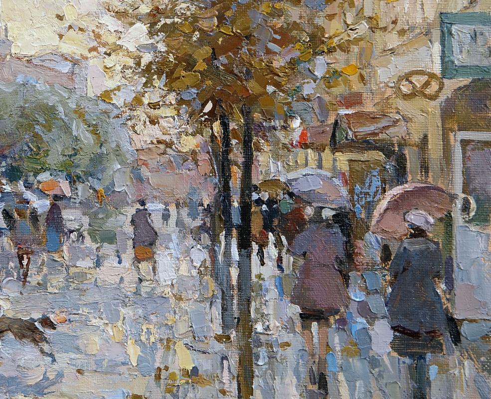 Rain on the Cross. Oil on canvas 27.5 x 36 cm. 2018