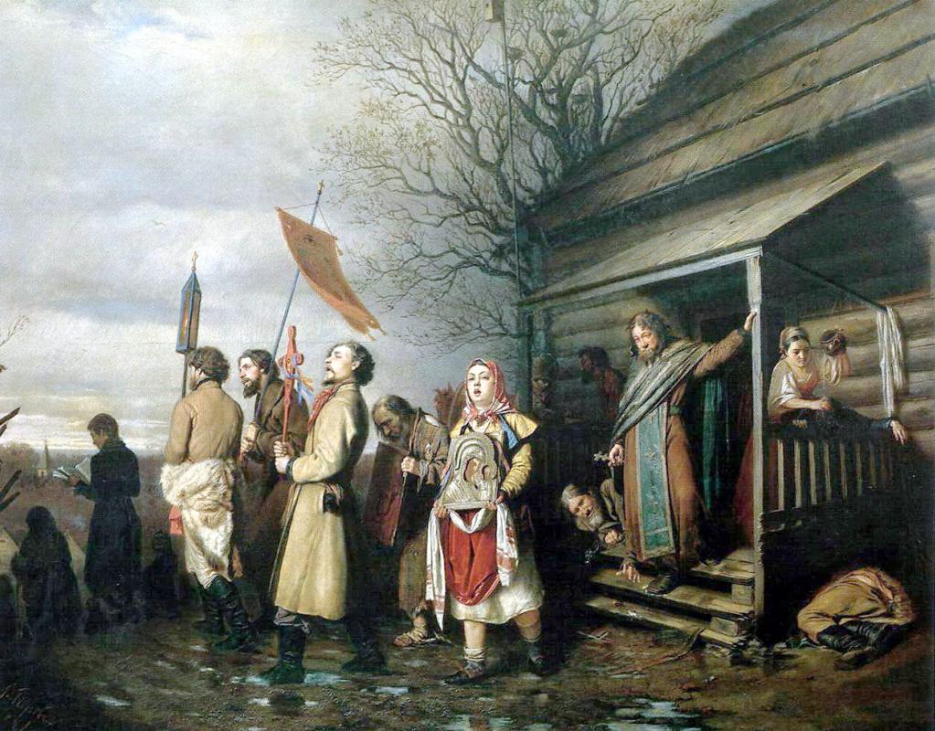 Василий Григорьевич Перов. Сельский крестный ход на Пасхе