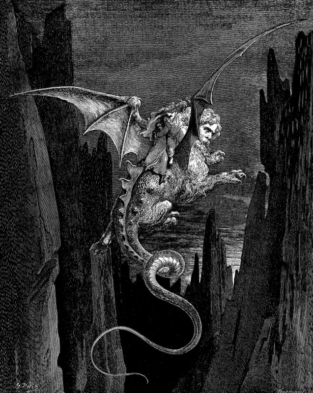 Paul Gustave Dore. Illustration to the Divine Comedy by Dante, Hell