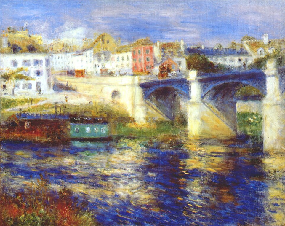 Pierre-Auguste Renoir. The bridge at Chatou