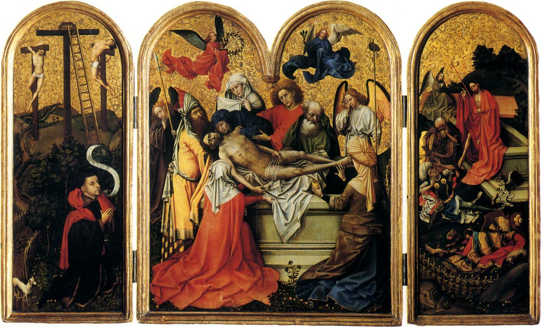 Робер Кампен. Триптих: погребение Христа