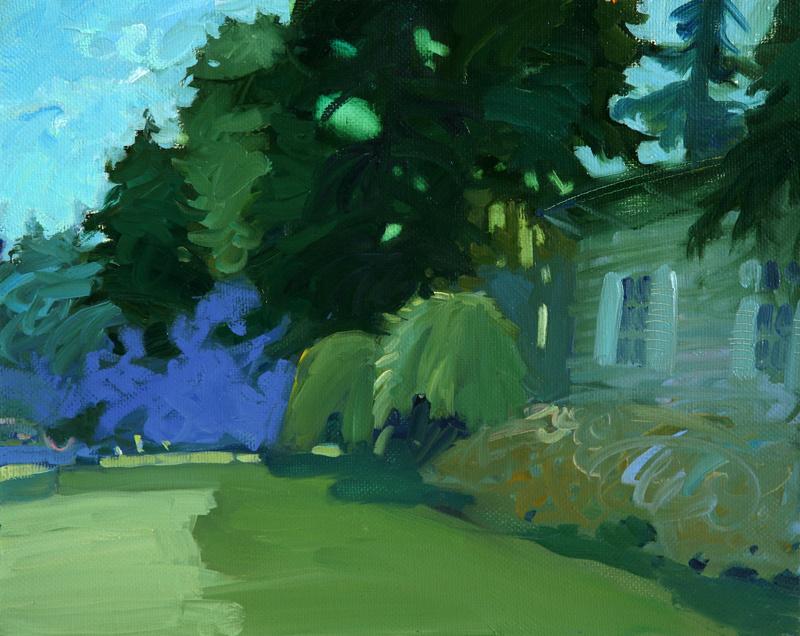 Alexander Valerievich Sushchin. Morning in the garden. Canvas, oil.