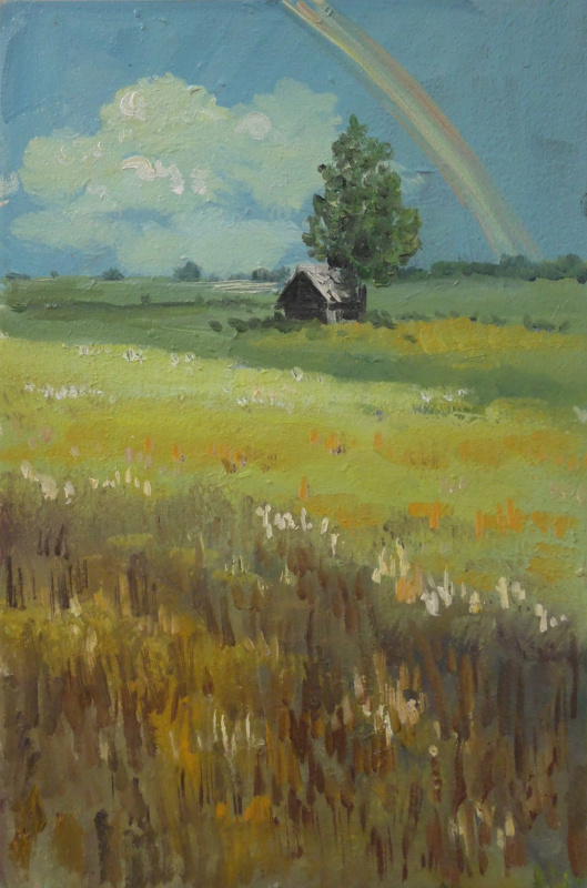 Elena Vyazemskaya. Rainbow over the field