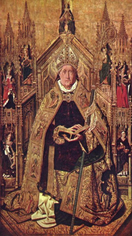 Бартоломе Бермехо. Св. Доминик на троне с семью главными добродетелями
