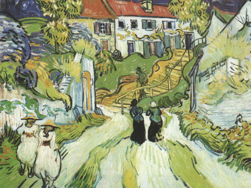 Винсент Ван Гог. Сельская дорога и ступени в Авьере