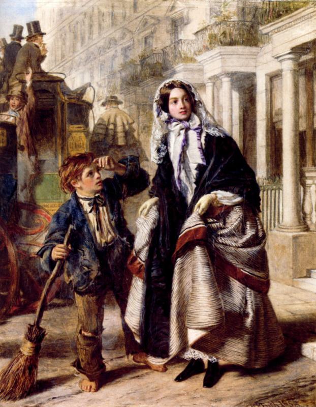 Уильям Пауэлл Фрайт. Женщина с мальчиком