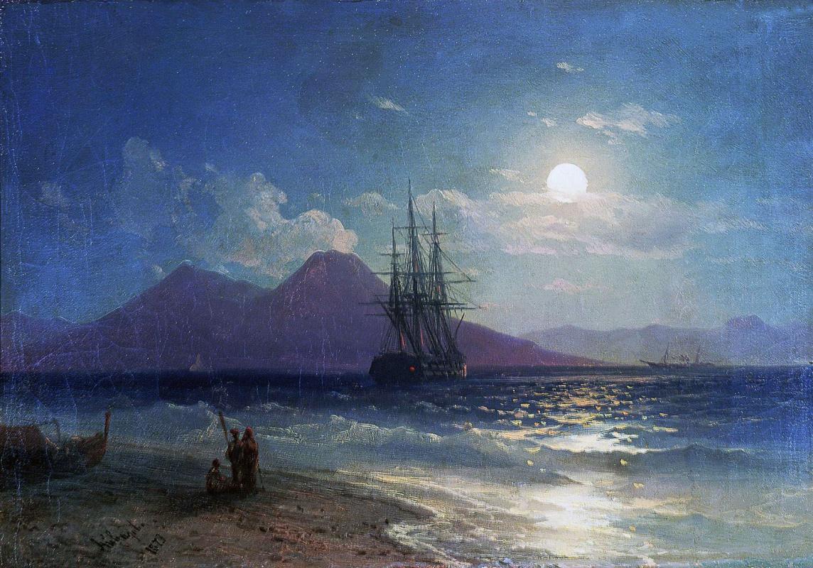 Иван Константинович Айвазовский. Вид моря ночью
