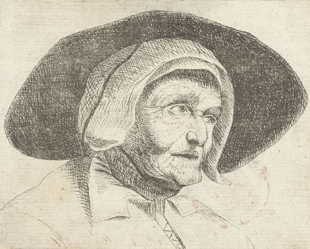 Jan Lievens. The old woman in wide-brimmed hat