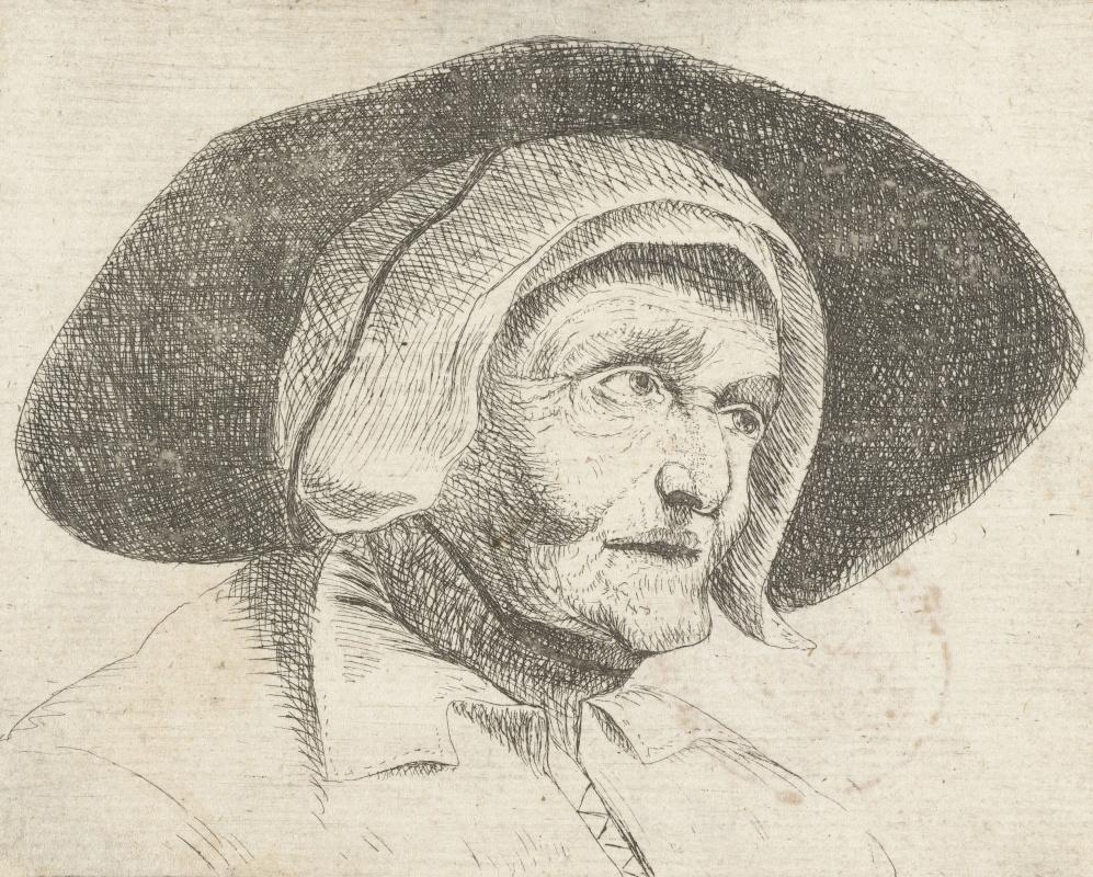 Ян Ливенс. Старуха в широкополой шляпе